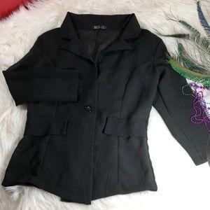 Jackets & Blazers - 🔴SALES🔴 Black Semi Sheer Jacket Sz Small